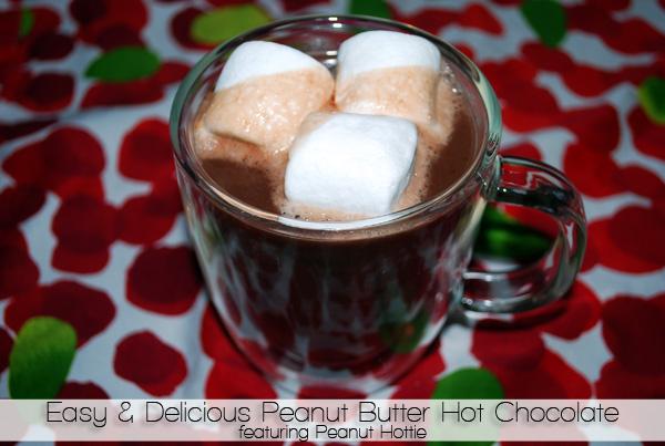 Make a delicious & easy peanut butter hot chocolate with Peanut Hottie | ShopGirlDaily.com