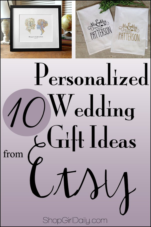 Wedding Wednesday: Personalized Wedding Gift Ideas from EtsyShop ...
