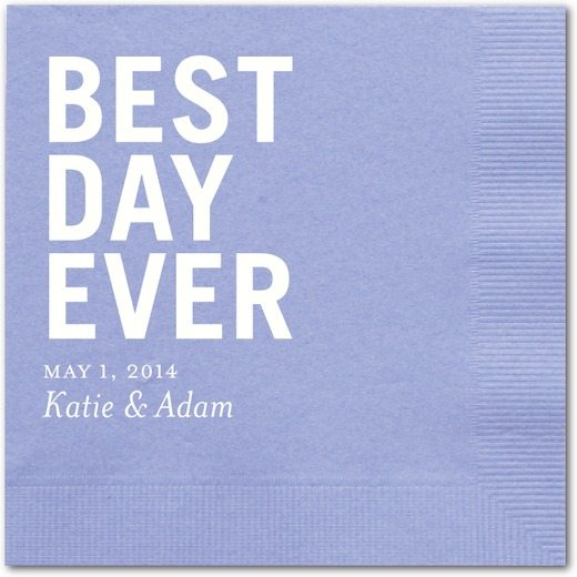 Best Day Ever Wedding Napkins from Wedding Paper Divas