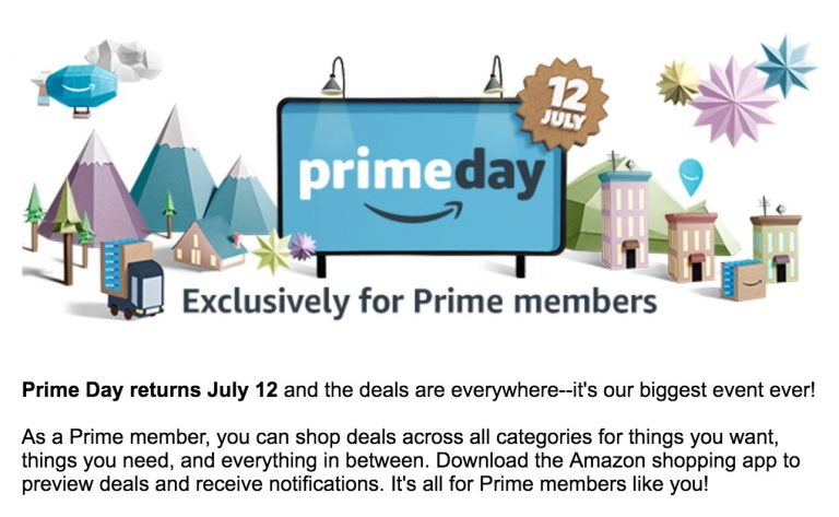 Amazon Prime Day is July 12