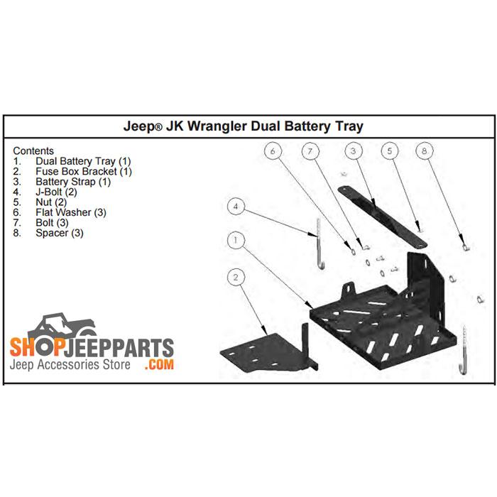jeep tj dual battery install