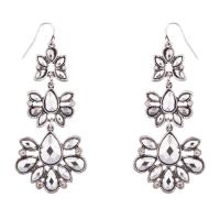 Bridal Teardrop Tear Drop Pave Crystal Stone Dangle Earrings