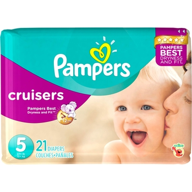 Pampers Cruisers Diapers Size 4, 24 Ct Disposable Diapers Baby