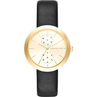 Michael Kors Women's Garner Stainless Steel And Leather ...