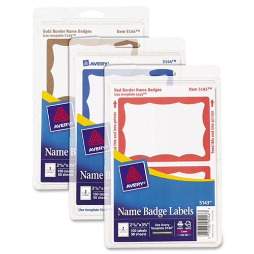 shopokstate - Avery Self-Adhesive Print / Write Name Badges