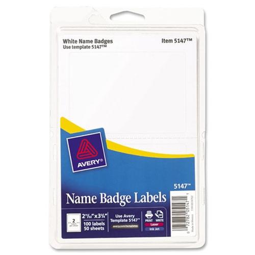 shopokstate - Avery White Print or Write Name Badge Labels