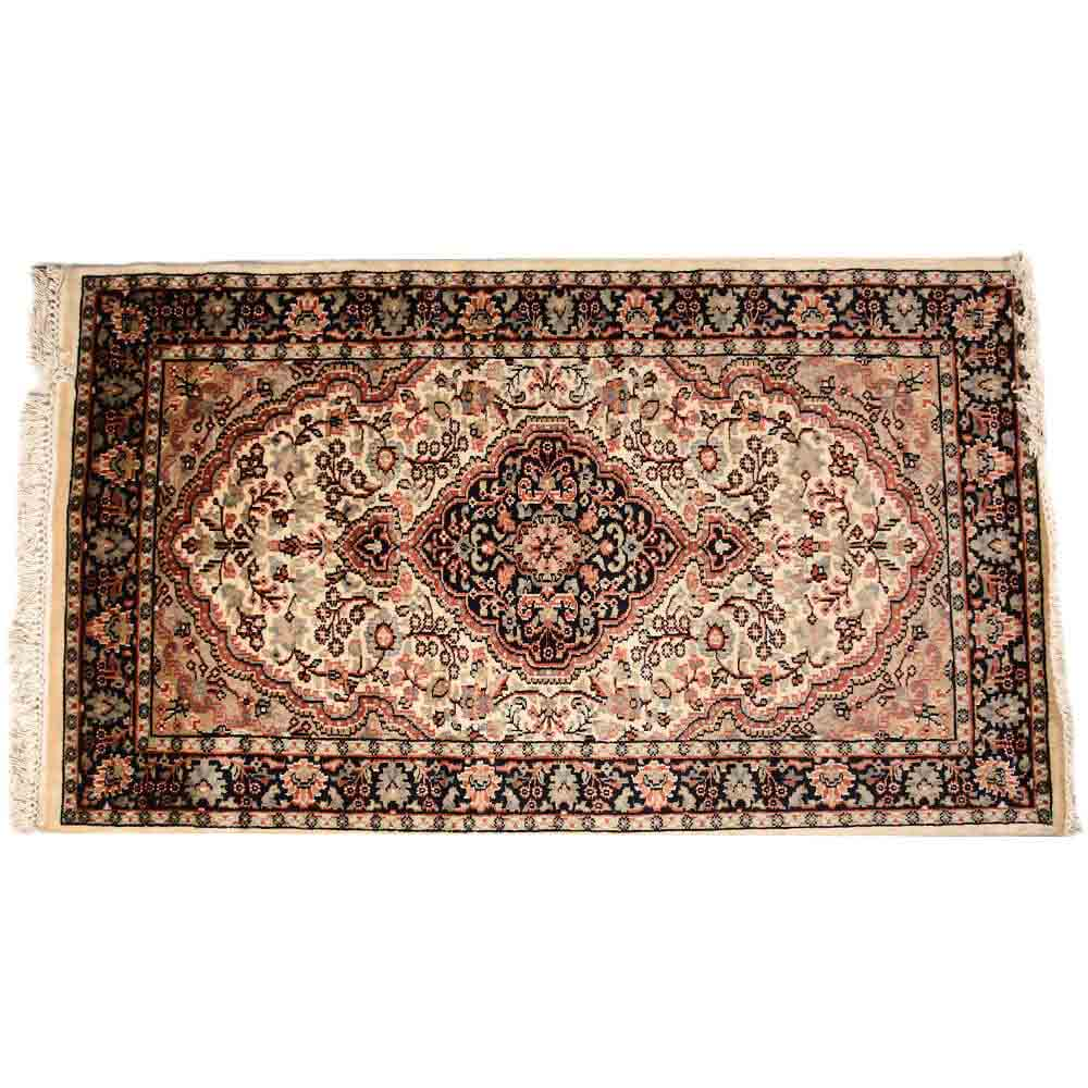 Buy White Black 35 Persian Hand Knotted Wool Rug