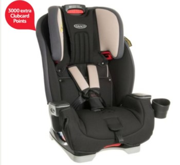 Graco milestone 3 in 1 car seat 3000 extra clubcard points