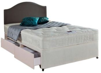Airsprung Double Divan Bed, Danbury Memory Cushion Top, 4 Drawer