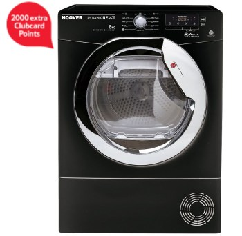 Hoover DNCD813BB Dynamic 8KG Aquavision Condenser Tumble Dryer - Black