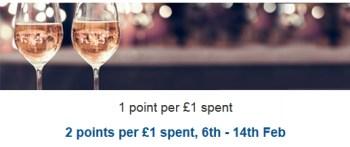 tesco grocery wine fizz double clubcard points
