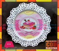 Buy Vintage Metal Cake Serving Plate for 8 Inch Cake at ...