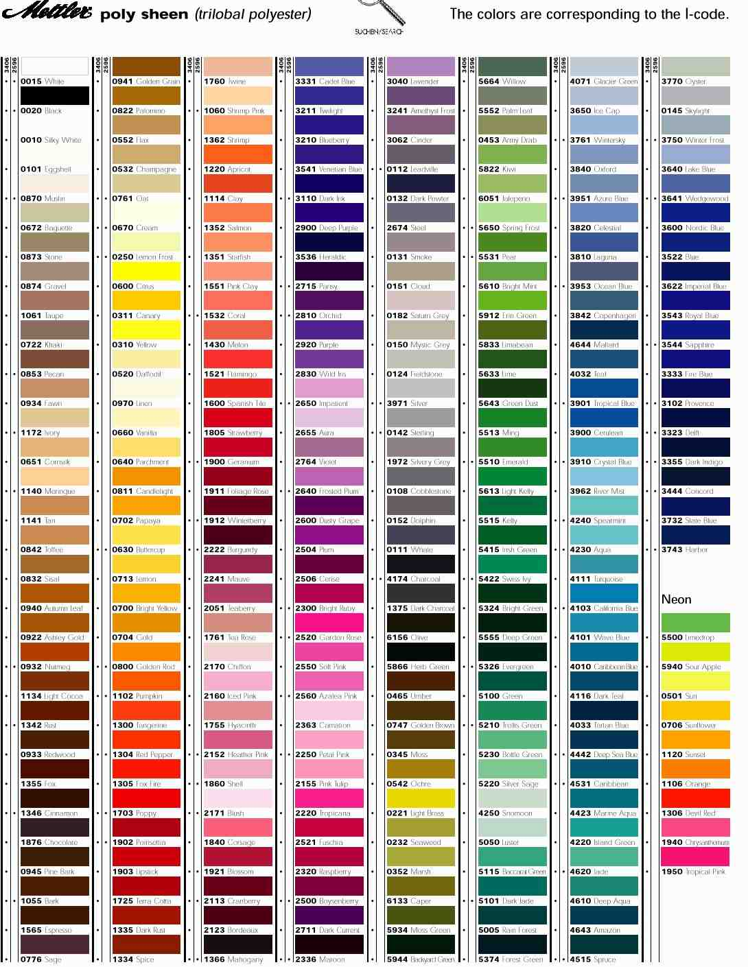 Printable dmc color chart html home interior robison anton thread chart nvjuhfo Image collections