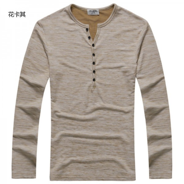 Buy 2018 Tee Tops Long Sleeve Stylish Slim Fit Button Placket Casual