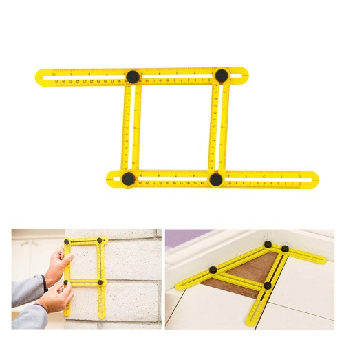 Multi-Angle Ruler Template Measurement Tool with Mechanism Sliders - angle template