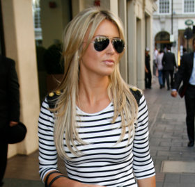 Allegra Versace Cannes Street Chic Buy Alex Curran striped dress online and Julien x