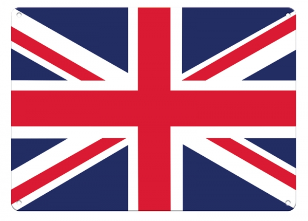Union Jack British Uk Flag Small A5 Tin Metal Steel Sign