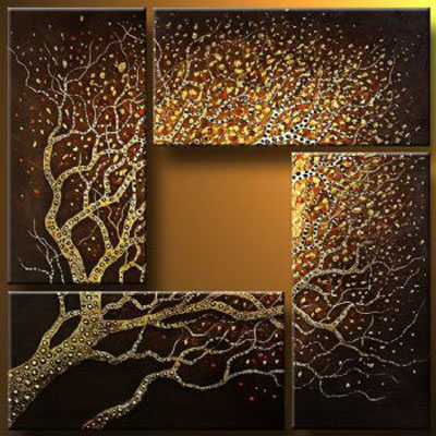 Branches That Reach The Sky Abstract Oil Painting Wall Art