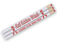 Red Ribbon Week Pencils