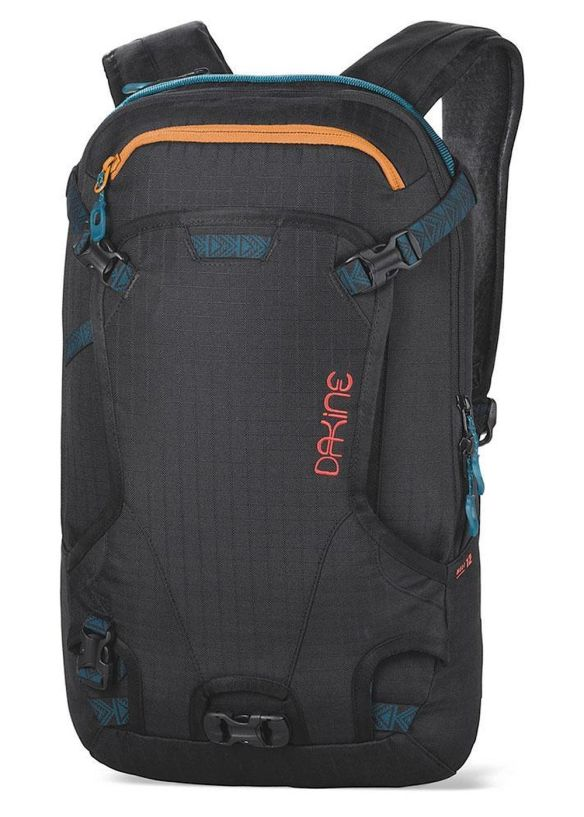 DAKINE WOMENS HELI PACK 12L BACKPACK Black Ripstop