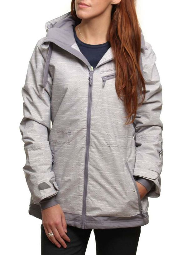 ONEILL ALMANDINE SNOW JACKET Grey AOP