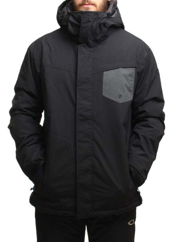QUIKSILVER MISSION PLAIN SNOW JACKET Caviar