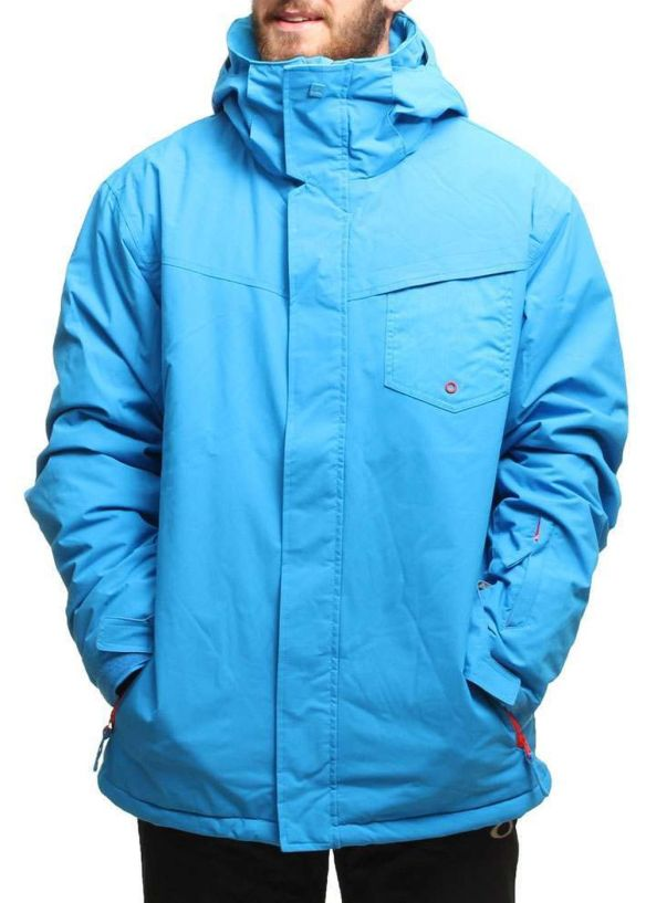 QUIKSILVER MISSION PLAIN SNOW JACKET Blue