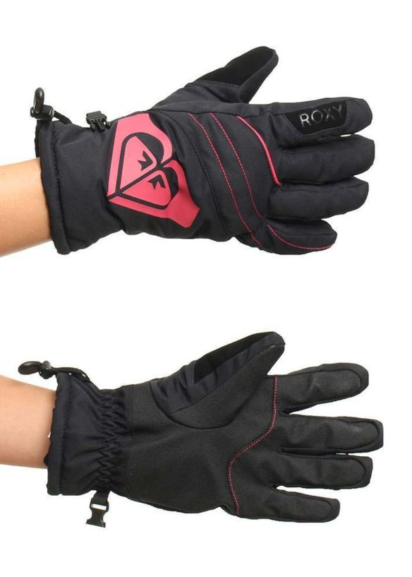 ROXY POPI SNOW GLOVES Anthracite