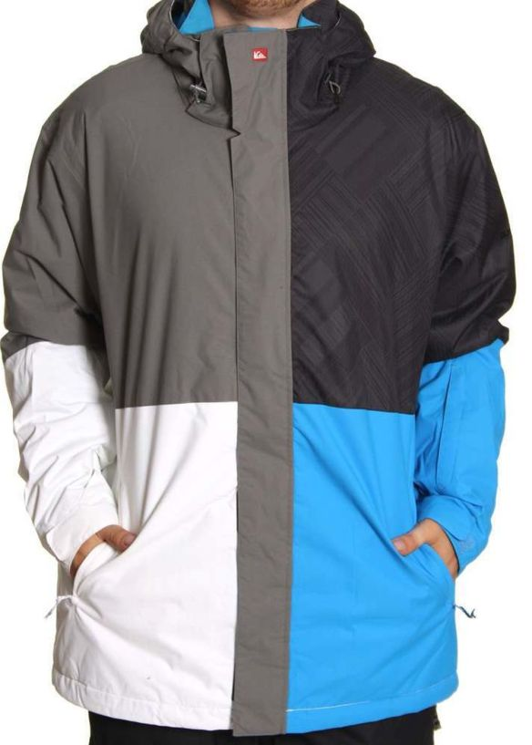 QUIKSILVER QUARTER SNOW JACKET Magazine Black