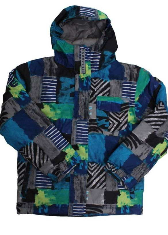 BILLABONG BOYS OVER SNOW JACKET Bubble Blue