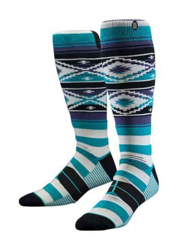 STANCE NEON NAVAJO MERINO WOOL SNOW SOCKS Blue