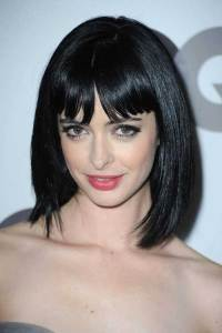 Pretty Blunt Bangs Hairstyles with Black Hair Color for ...