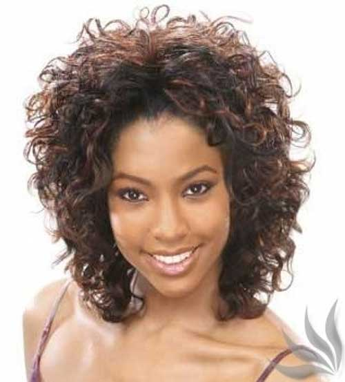 Permed Curly Short Hairstyle For Black Women