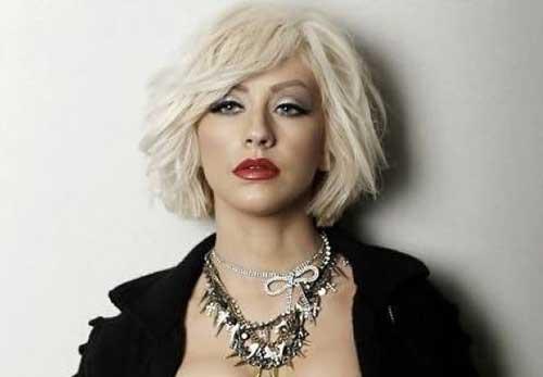 Christina Aguilera Bob Haircut