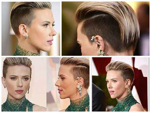 Scarlett Johansson Short Side Haircut