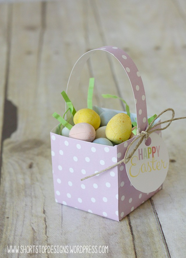 Mini Easter Basket Purple
