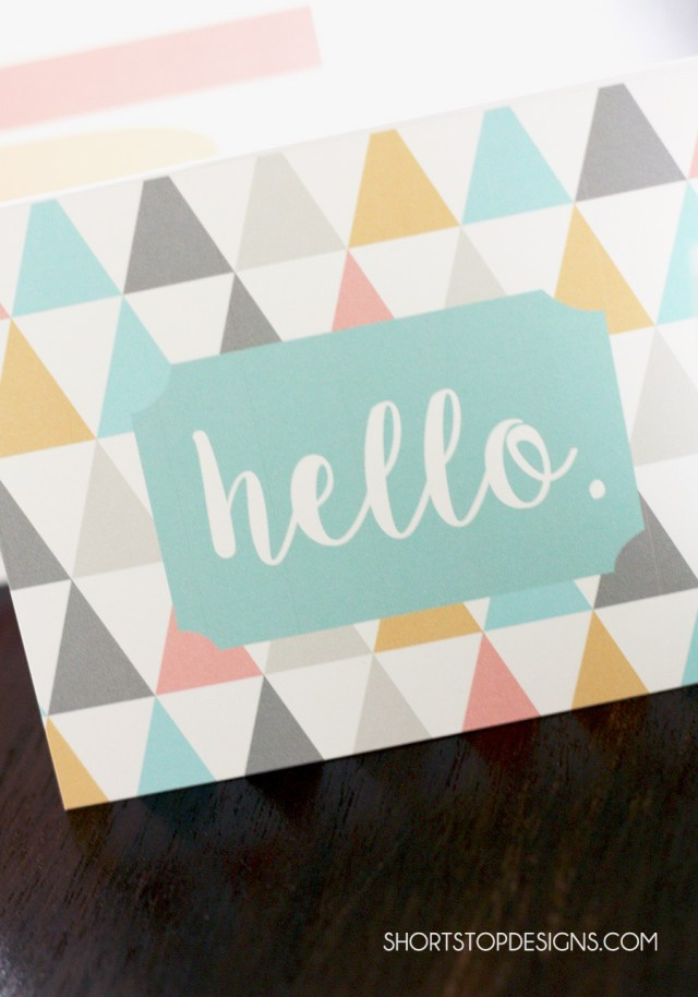 PRINTABLE NOTE CARDS HELLO2