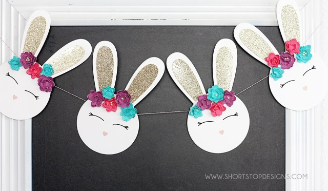 BABY SHOWER BUNNY BANNER
