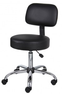 Boss Small Office Chairs On Wheels Black Caressoft Medical ...
