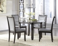 Dark Brown Wooden Dining Room Chair Gray Kitchen Table And ...