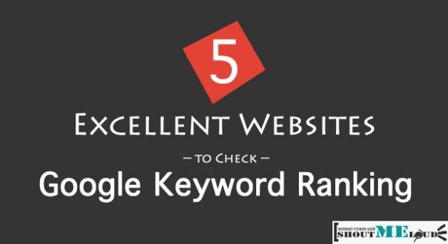 Check Google Keyword Ranking