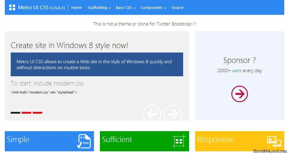 Free Metro UI Templates to Create Windows 8 Metro Style Websites - how to create a website template