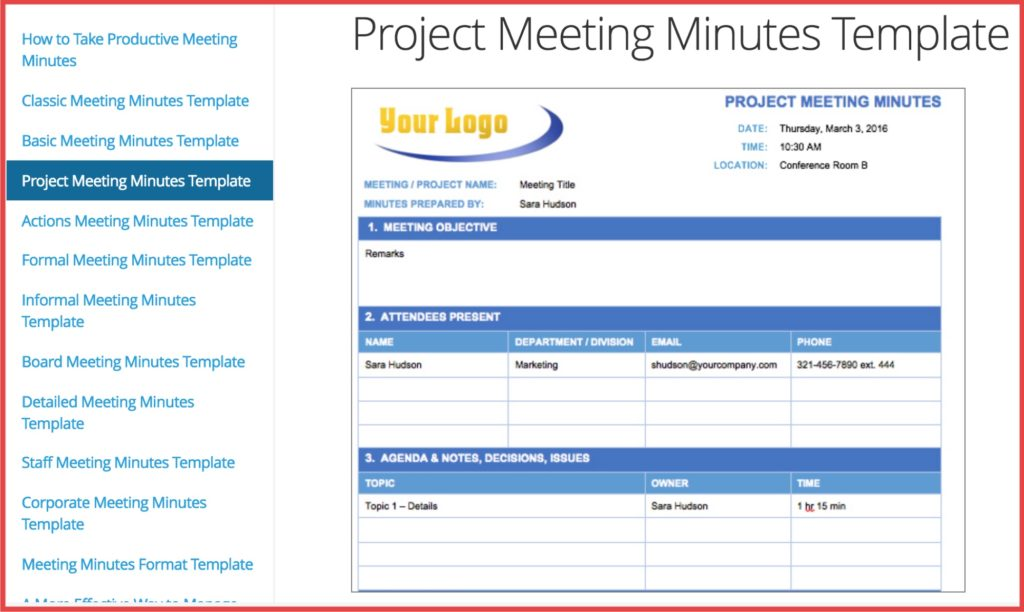 How Minutes Of Meeting Can Help You Improve + Free Downloadable - meeting minutes template