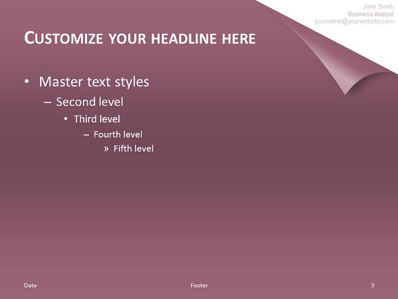powerpoint template cv