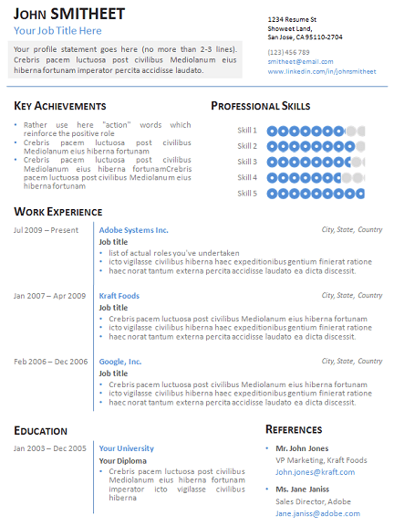 sa cv template download latex templates wenneker resumecv 1 page minimalist resumecv template for