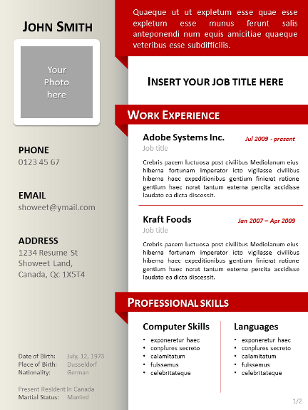Simple Sample Cv Openoffice Resume Openoffice Resume Template
