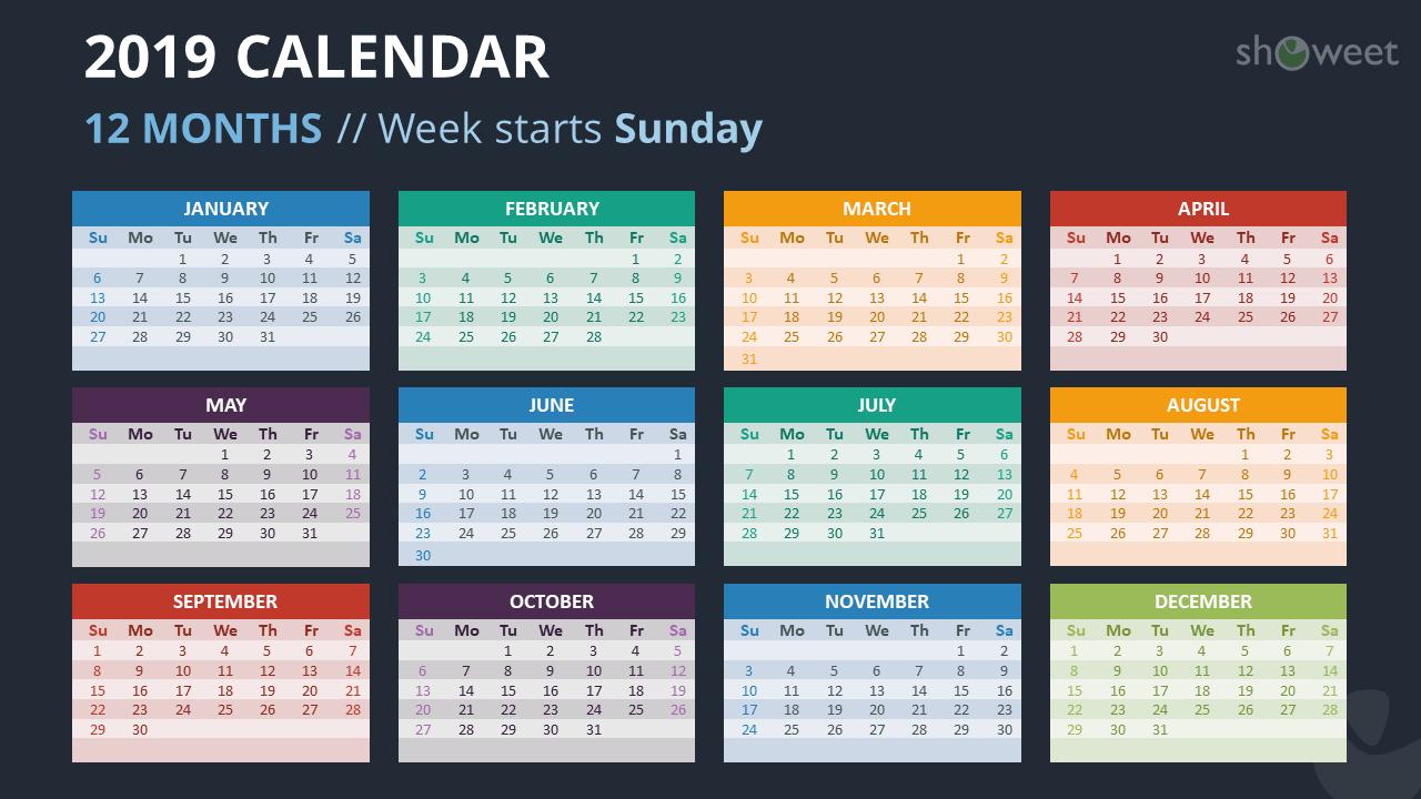 microsoft calendar templates 2019