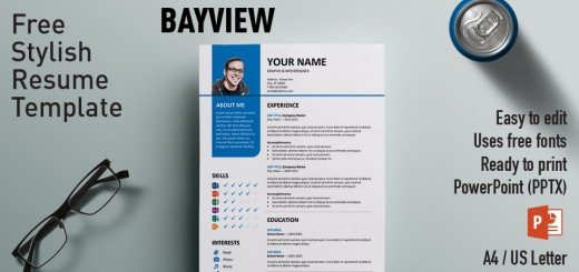 Centrum Simple PowerPoint Resume Template - resume powerpoint template