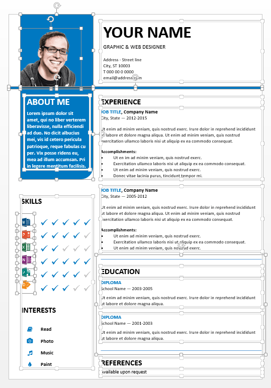 resume icons powerpoint