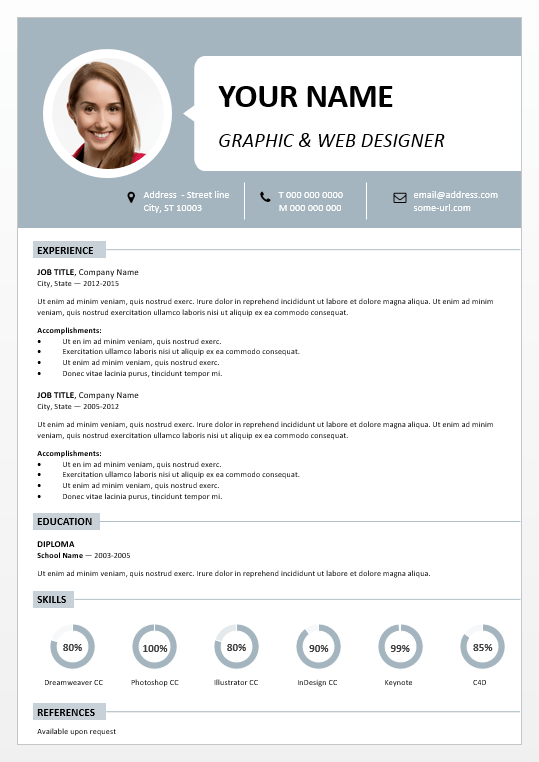 resume cv powerpoint template